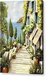 Un Canarino Acrylic Print by Guido Borelli