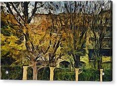 Un Cheteau Dans Le Paradis - Two Of Two  Acrylic Print by Sir Josef - Social Critic -  Maha Art