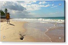 Un Paseo En La Playa Acrylic Print