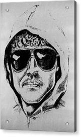 Unabomber Ted Kaczynski Police Sketch 1 Acrylic Print by Tony Rubino