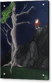 Acrylic Print featuring the drawing Unalone by Danielle R T Haney