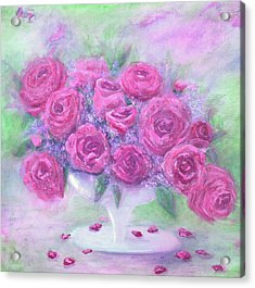 Armchair Rose Garden Acrylic Print