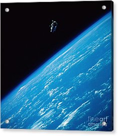 Unattached Space Walk Acrylic Print by Stocktrek Images