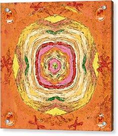 Acrylic Print featuring the painting Unbalanced Mandala by Shelley Bain