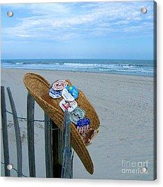Uncle Carl's Beach Hat Acrylic Print by Nancy Patterson