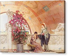 Unconscious Rivals Acrylic Print by Sir Lawrence Alma Tadema