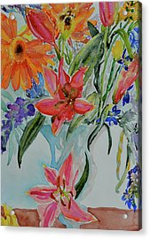 Acrylic Print featuring the painting Uncontainable by Beverley Harper Tinsley