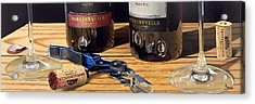 Uncork Your Passion Acrylic Print by Brien Cole