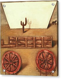 Acrylic Print featuring the painting Tommervik Uncovered Wagon Art Print by Tommervik