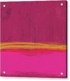 Undaunted Pink Abstract- Art By Linda Woods Acrylic Print