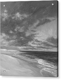 Under A Painted Sky - Black And White Acrylic Print by Lucie Bilodeau