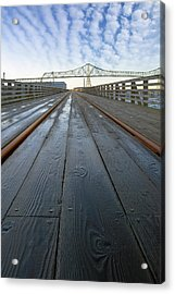 Under Astoria Megler Bridge On Riverwalk Acrylic Print