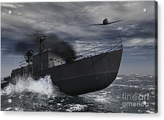 Under Attack Acrylic Print by Richard Rizzo