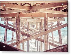 Under Balboa Pier Newport Beach Acrylic Print by Paul Velgos
