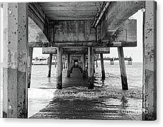 Under Belmont Veterans Memorial Pier Acrylic Print