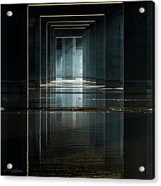 Under Clark Bridge Acrylic Print by Jae Mishra
