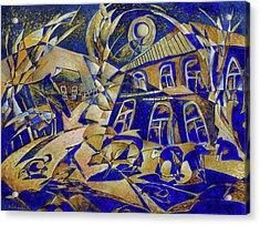 Under Gold Light Acrylic Print by Andrey Soldatenko