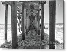 Acrylic Print featuring the photograph Under Huntington Beach Pier by Ana V Ramirez