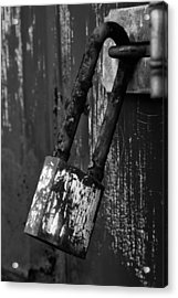 Under Lock And Key II Acrylic Print by Off The Beaten Path Photography - Andrew Alexander