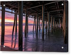 Acrylic Print featuring the photograph Under Old Orchard Pier by Expressive Landscapes Fine Art Photography by Thom