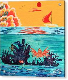 Bright Coral Reef Acrylic Print