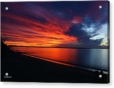 Under The Blood Red Sky Acrylic Print