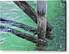 Under The Boardwalk Acrylic Print by Stephen Mitchell