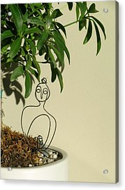 Under The Bodhi Tree Acrylic Print by Live Wire Spirit