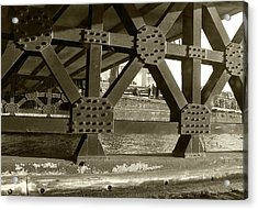Acrylic Print featuring the photograph Under The Bridge 2 by Scott Hovind
