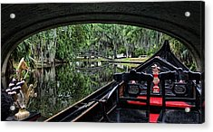 Under The Bridge Acrylic Print by Judy Vincent