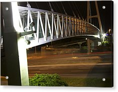 Acrylic Print featuring the photograph Under The Bridge by Michael Albright