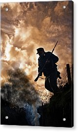 Under The Burning Sky Acrylic Print by Mark H Roberts