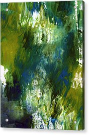 Under The Canopy- Abstract Art By Linda Woods Acrylic Print by Linda Woods