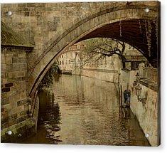 Under The Charles Bridge Acrylic Print