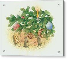 Under The  Christmas Tree Acrylic Print by Kestutis Kasparavicius