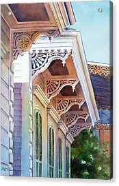 Under The Eaves Acrylic Print by Sue Zimmermann