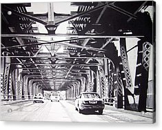 Under The El Acrylic Print by Scott Robinson