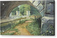 Under The Erie Canal Acrylic Print by Stephen Bluto