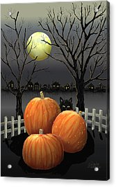 Under The Full Moon Acrylic Print by Arline Wagner