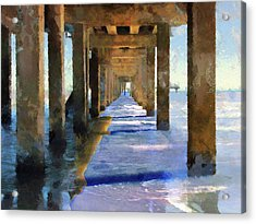 Under The Galvaston Pier - Limited Edition Acrylic Print