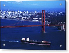 Under The Golden Gate Acrylic Print by Carl Purcell