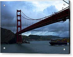 Under The Golden Gate In Early Morning Light  Acrylic Print