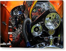 Under The Hood Acrylic Print by Mike Martin