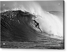 Under The Lip In Black And White Acrylic Print by Paul Topp
