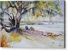 Under The Live Oak Acrylic Print