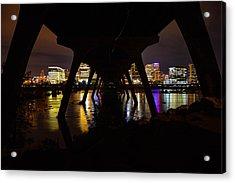 Under The Manchester Bridge Acrylic Print