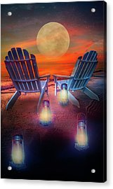 Acrylic Print featuring the photograph Under The Moon by Debra and Dave Vanderlaan
