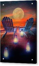 Under The Moon Acrylic Print by Debra and Dave Vanderlaan