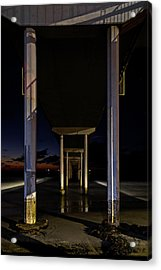 Under The Ocean Beach Pier At Sunste Acrylic Print
