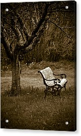 Under The Old Apple Tree Acrylic Print by Frank Tschakert